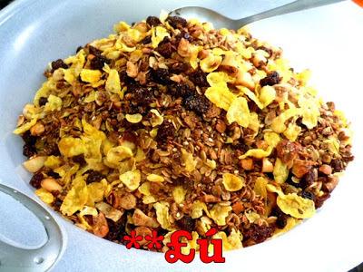 granola caseira com açucar mascavo