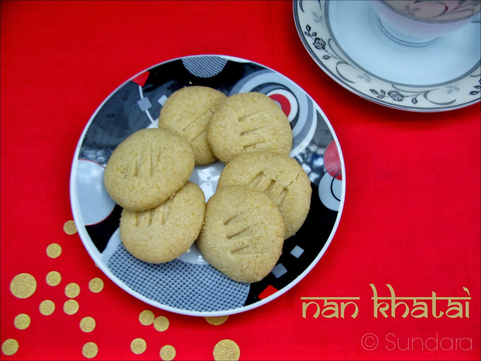 Wheat flour Nan Khatai ~ Eggless Indian Shortbread