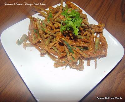 Kurkure Bhindi /Crispy Fried Ladies Finger/Okra