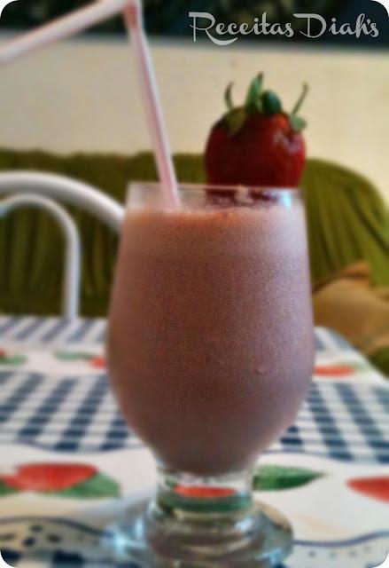 milk shake de morango sem sorvete