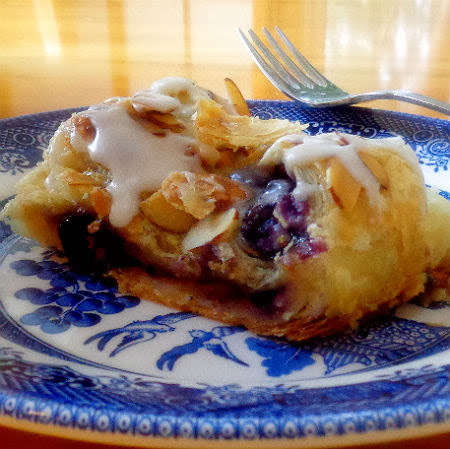 Simply Scrumptious  Blueberry and Almond Cheese Puff