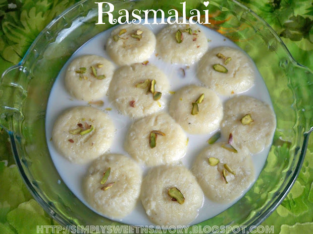 Rasmalai or Ras Malai ( Powdered Milk Balls In Sweetened Milk )