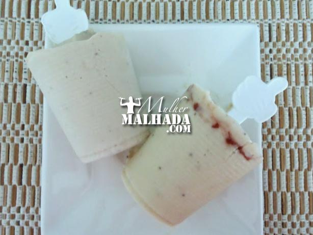 Receita de Paleta Mexicana Fit - Sabor Banana e Pasta de Amendoim