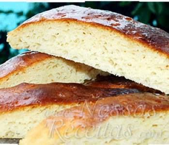 pão facil de fecula de batata
