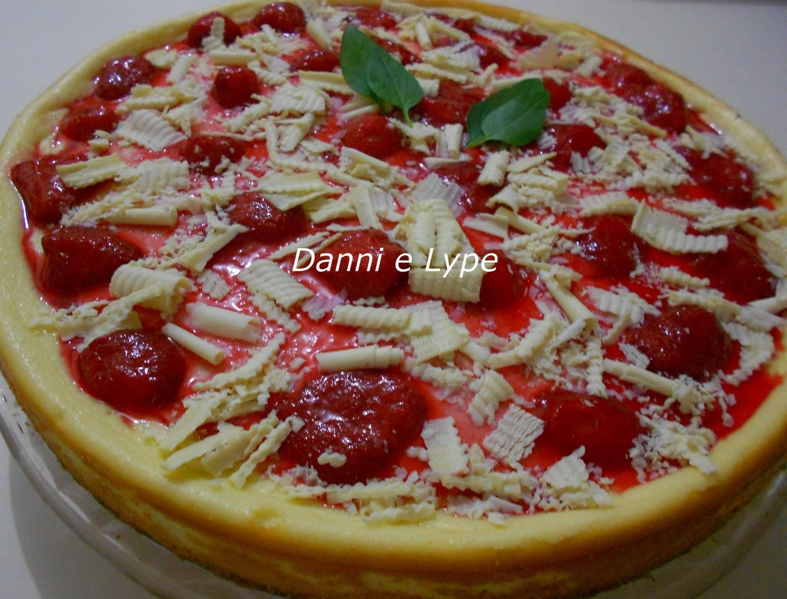Cheesecake de Chocolate Branco e Frutas Vermelhas (versão normal ou diet)