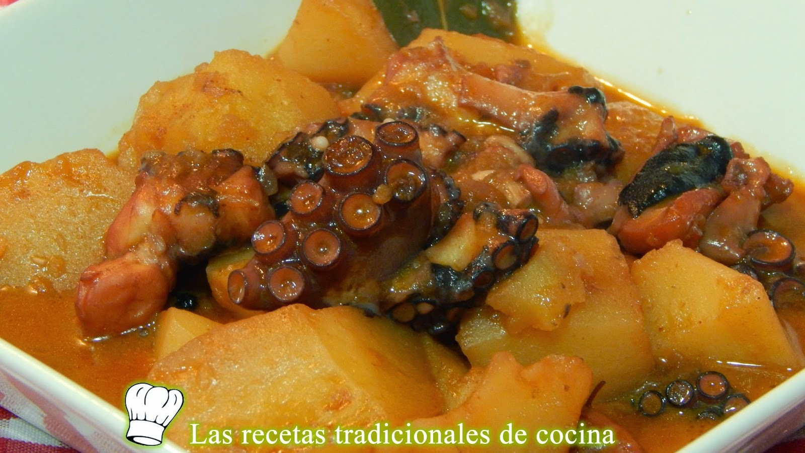 Receta de estofado de pulpo con patatas