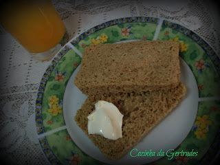 pão caseiro de microondas -integral