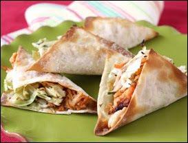 Wonton Chicken Tacos