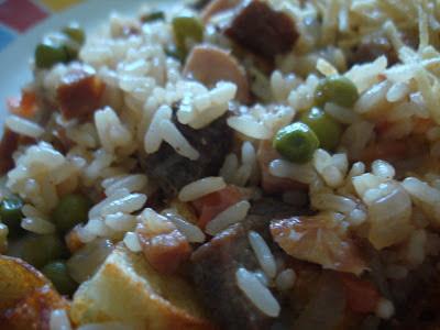 de arroz de carreteiro com peito de frango