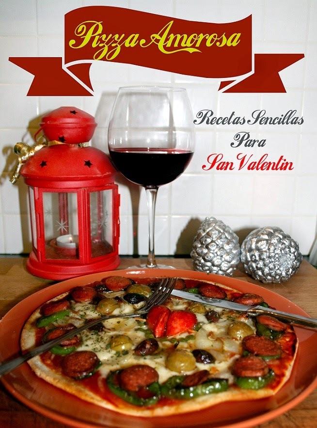 Pizza Casera   Receta para San Valentín