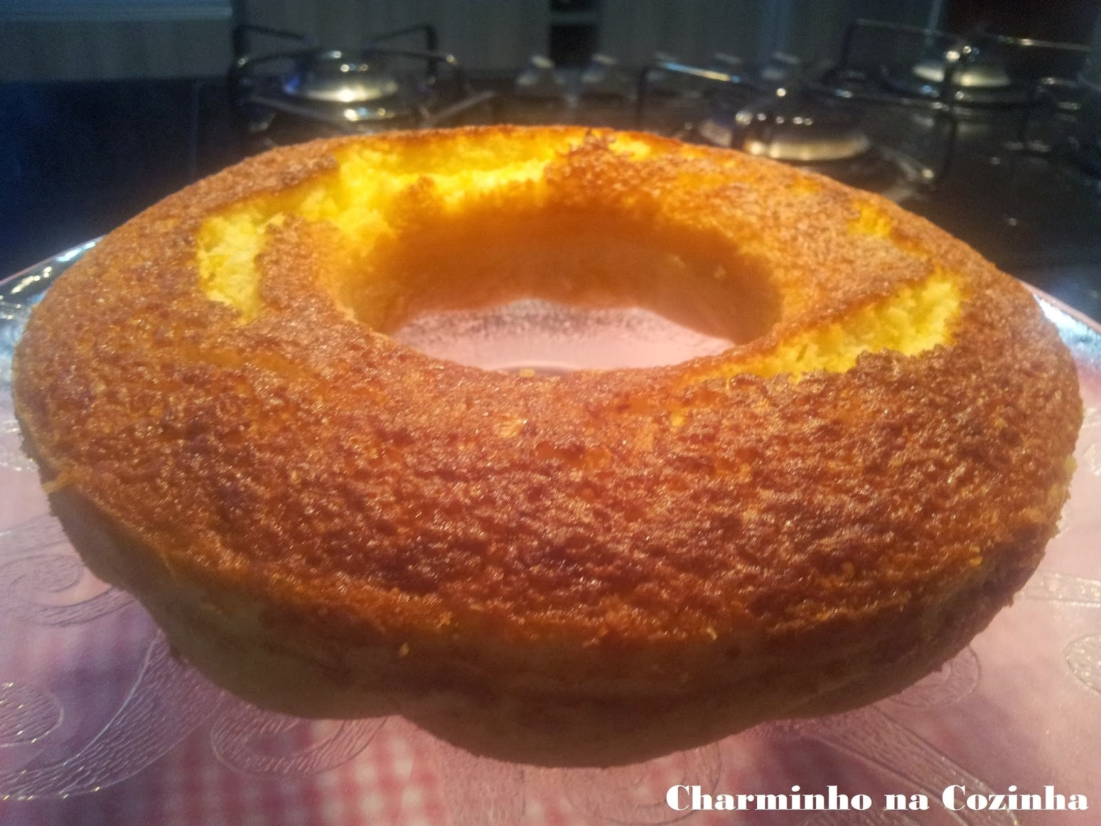 bolo de milharina com coco no liquidificador