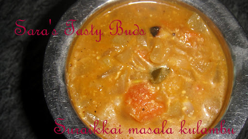 Suraikai kulambu / Bottlegourd  masala gravy