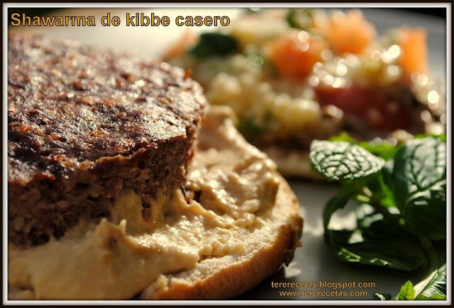 Shawarma de kibbe casero.