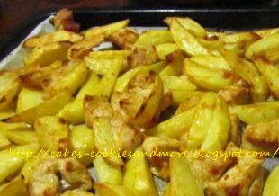 Kochen mit Kinder; Rezept für Poulet und Kartoffeln vom Blech