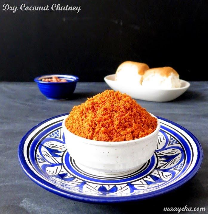 Dry Coconut Chutney - for Vada Pav