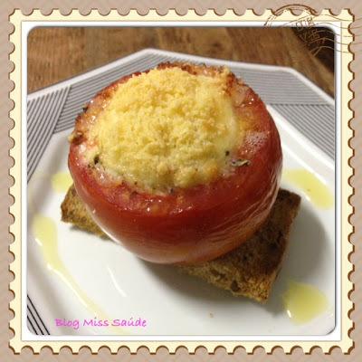tomate recheado ao forno