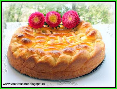 пирог на молоке с яблоками