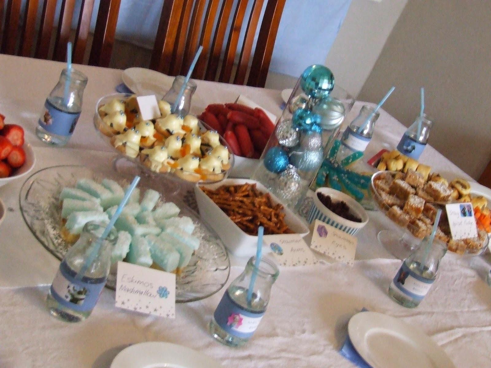 Princess Elsa's Coronation Frozen Party Menu - from Kiwicakes test kitchen