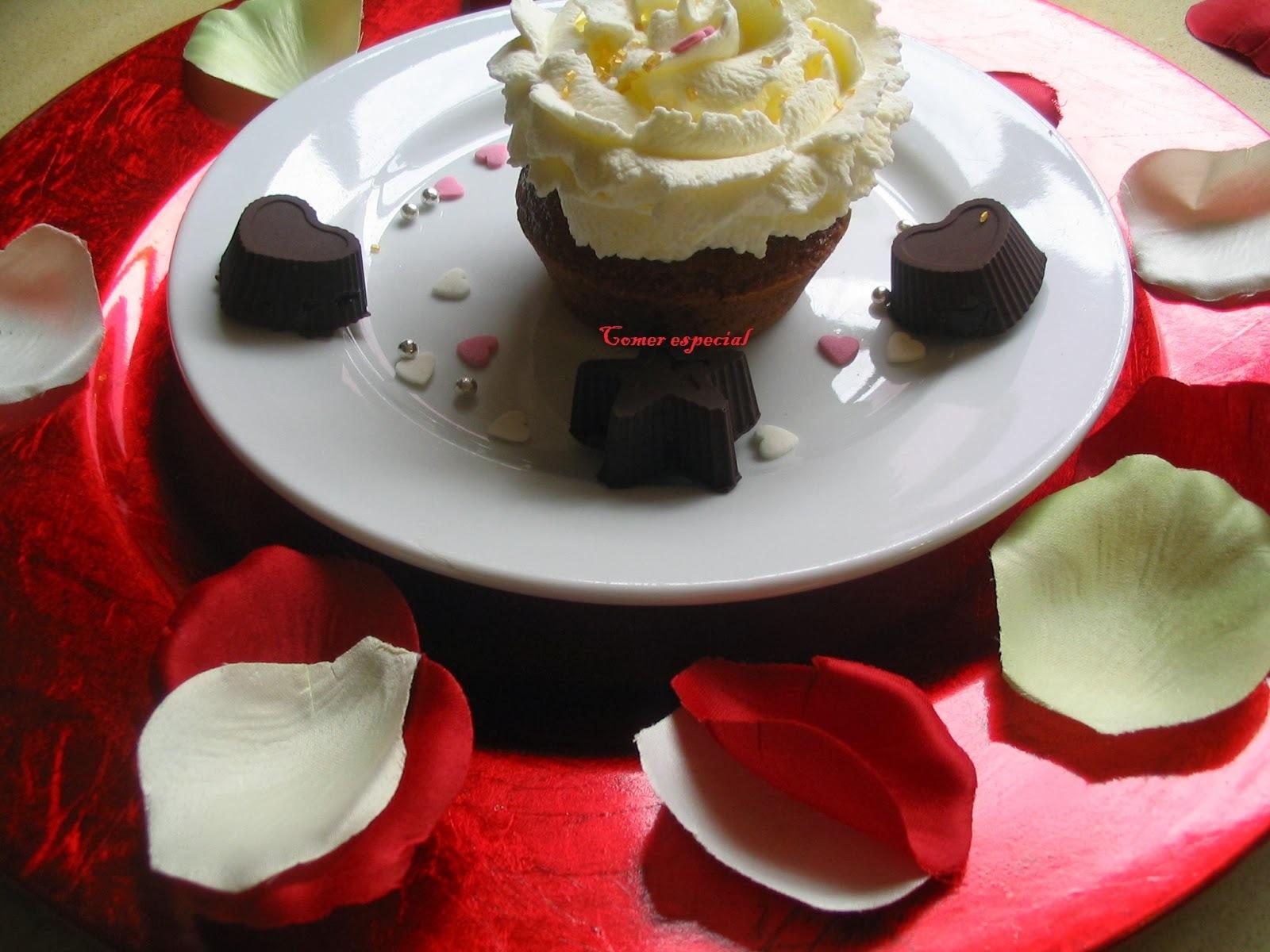 Cupcakes de chocolate y menta sin lactosa