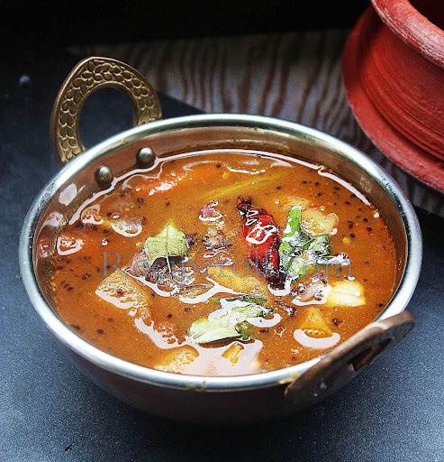Onam Recipes - Sambar /Varutharacha Sambar/ Kannur Sambar