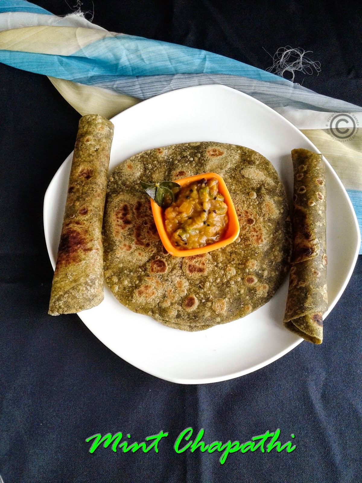 MINT PARATHA I PUDHINA CHAPATHI I HEALTHY PARATHA RECIPES