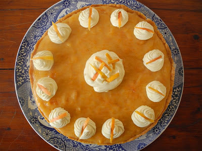 Tarta de pomelo (Grapefruit pie)