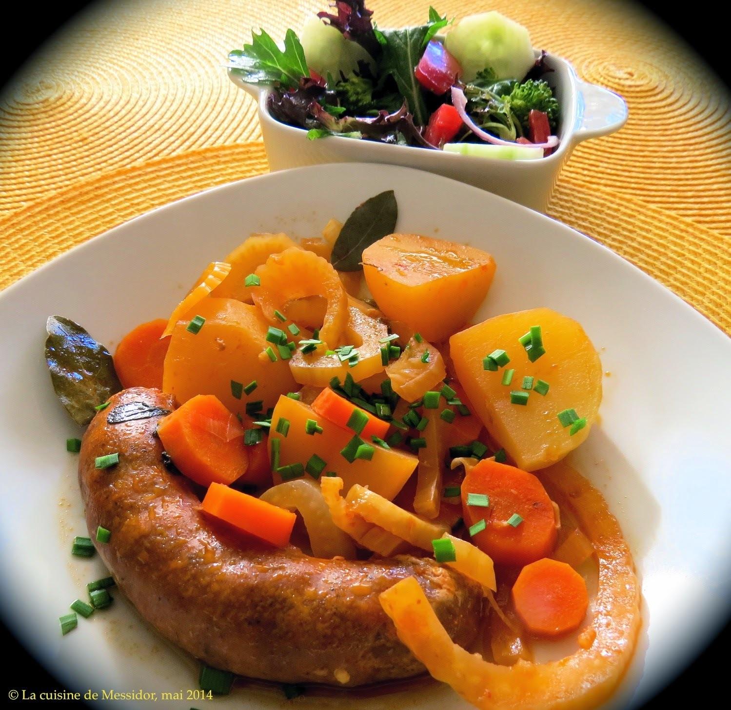 Mijoté de saucisses au fenouil et aux pommes de terre
