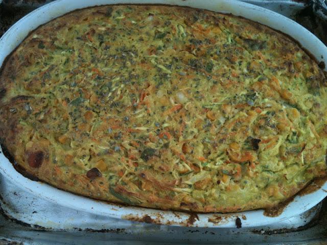 omelete com bacon e farinha de trigo