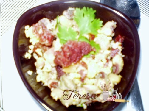 Arrumadinho de Feijão verde com carne de charque