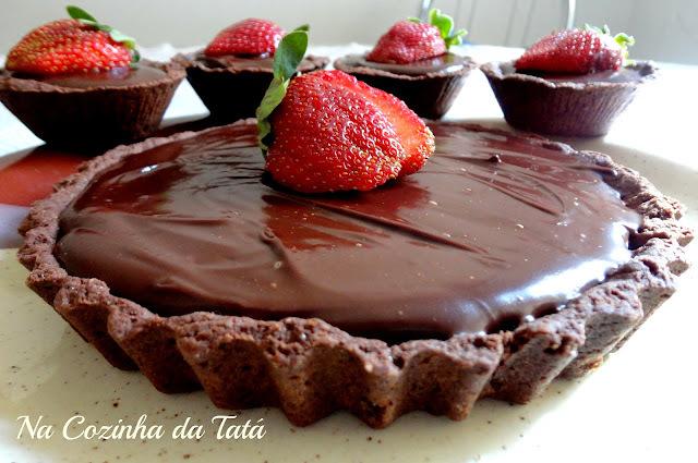 Tortinhas de Morango e Chocolate