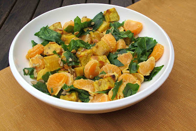 Kumara and Mandarin Salad with Hazelnut Oil Dressing