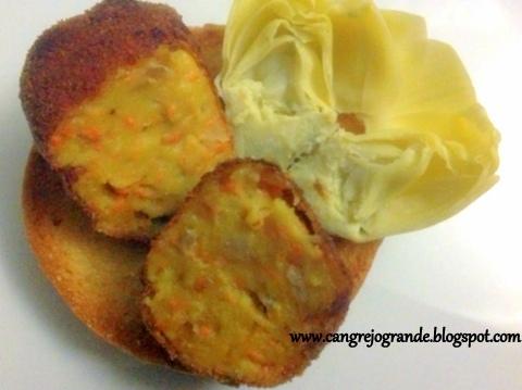 Croquetas de Zanahoria.  Receta Vegetariana.