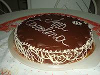 Guanache de Chocolate - Como cobertura de bolo