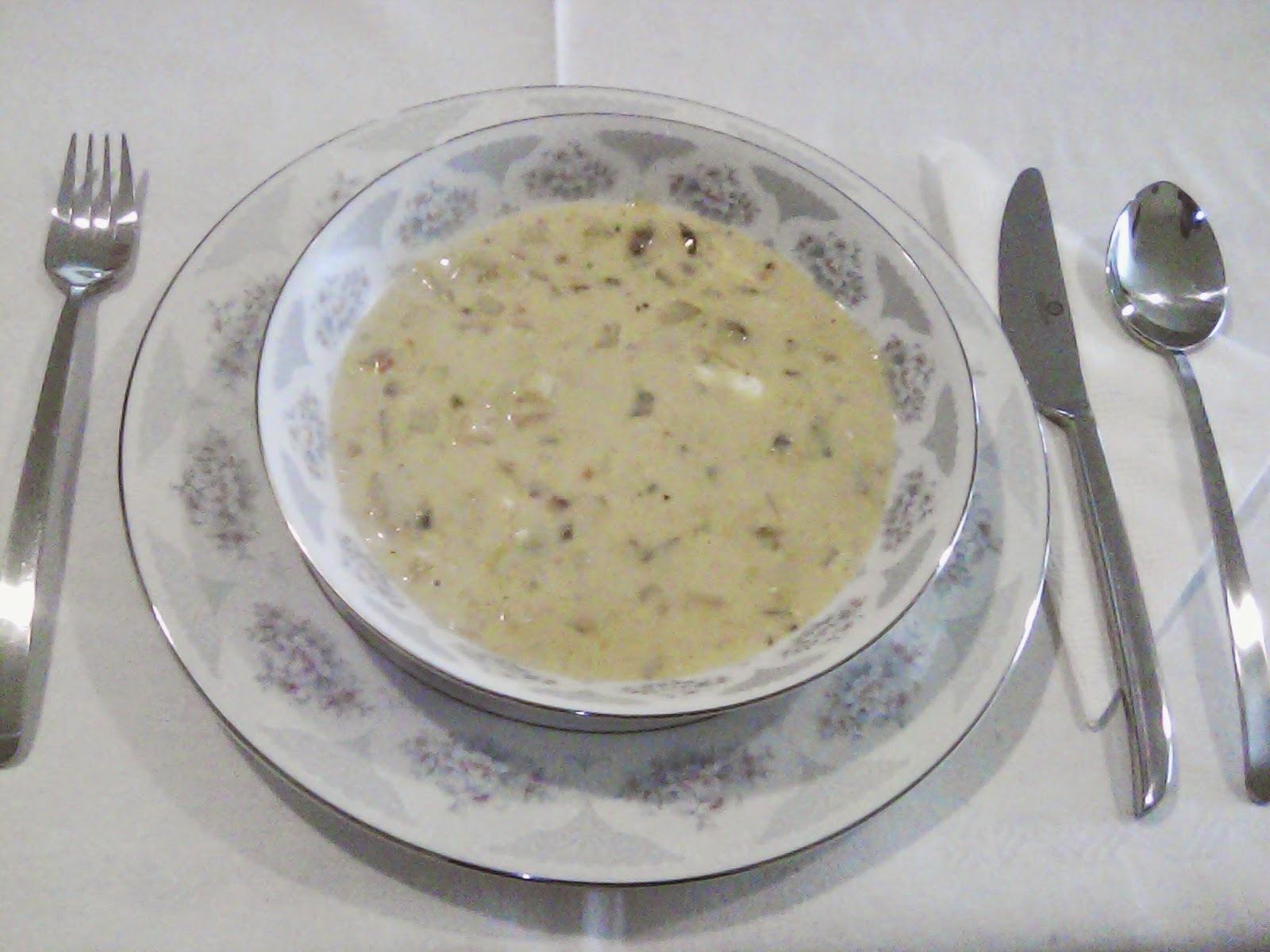 Sopa crema de Almejas
