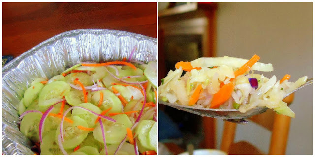 Two Summer Sides - Asian Cucumber Salad + Cabbage, Pineapple and Peanut Salad