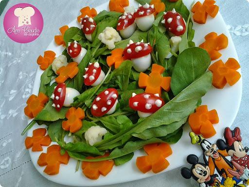 salada de maionese decorada