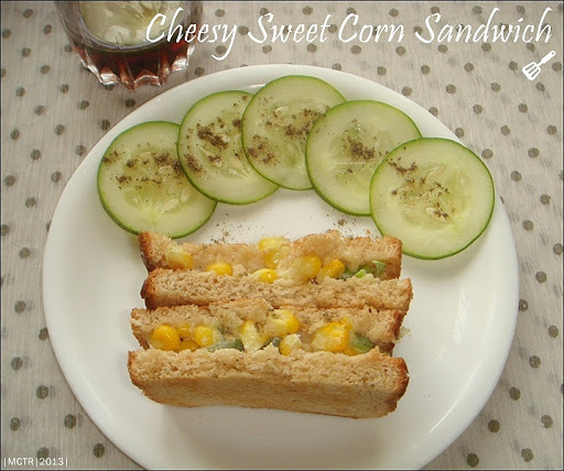 Cheesy Sweet Corn Sandwich | Sandwich Ideas