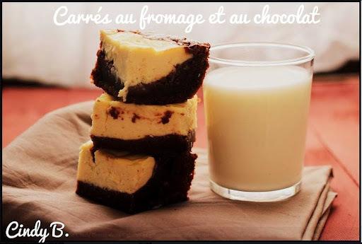 Le gâteau Brownie + Cheese cake = Carré au chocolat et au fromage