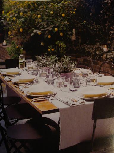 decoraçao de jantar italiano