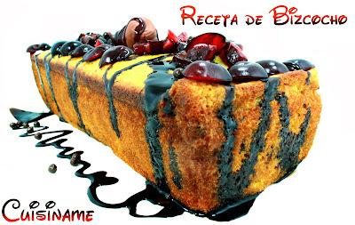 Bizcocho Casero | Receta de Bizcocho de Frutas