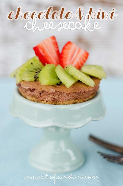 Chocolate Kiwi Cheesecake