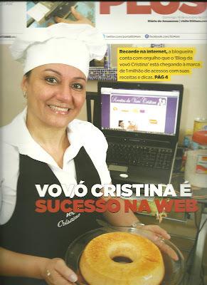 VOVÓ CRISTINA NO DIÁRIO DO AMAZONAS
