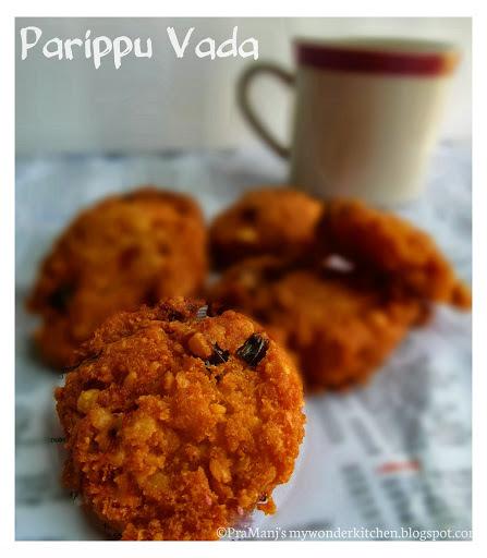 Parippu vada/Lentil fritters
