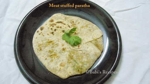 Meat Stuffed Paratha / Keema Flatbread  |  Easy Dinner Recipe