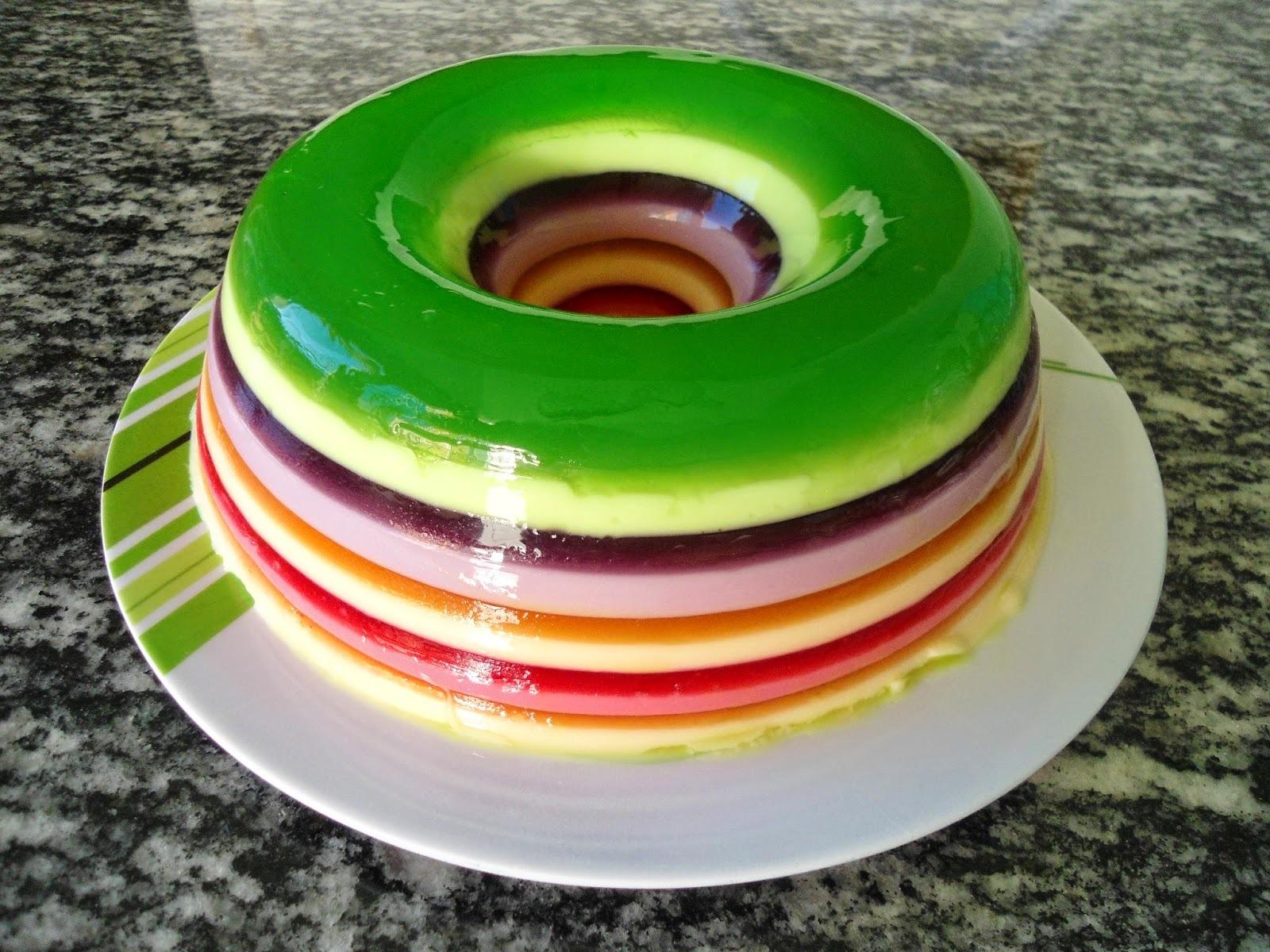 Gelatina colorida (arco-íris)