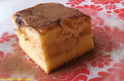 Almás-vaníliakrémes piskóta