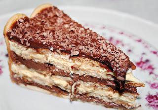 Receita de pavê de chocolate com biscoite de maizena