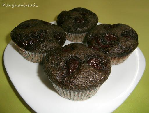 paleo mákos muffin