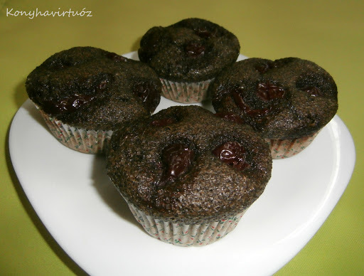 Meggyes-mákos muffin (paleo)