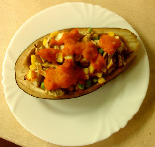 zapekaný baklažán so zemiakmi